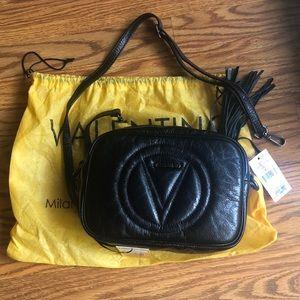 Valentino leather purse crossbody black